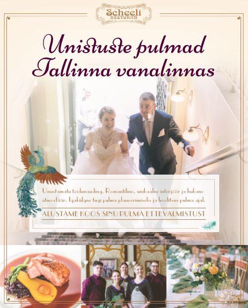 Unistuste pulmad Scheeli Restoranis 2016