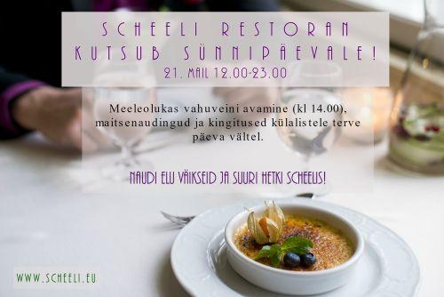 Scheeli Restorani sünnipäev 2016